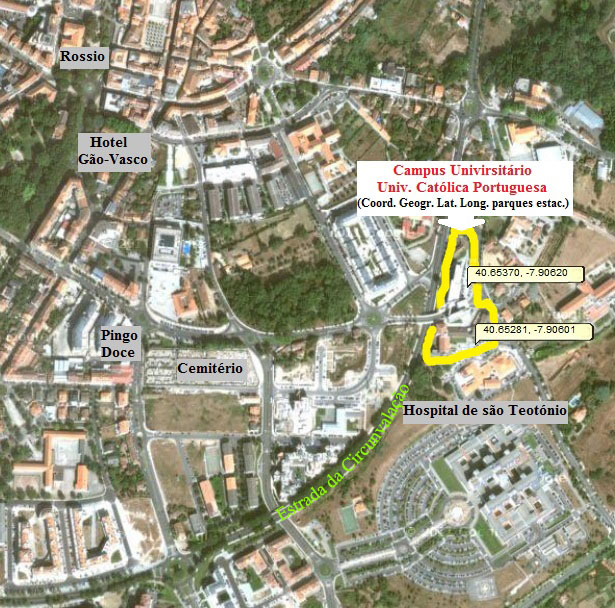 Como chegar à Universidade Católica Portuguesa em Viseu
